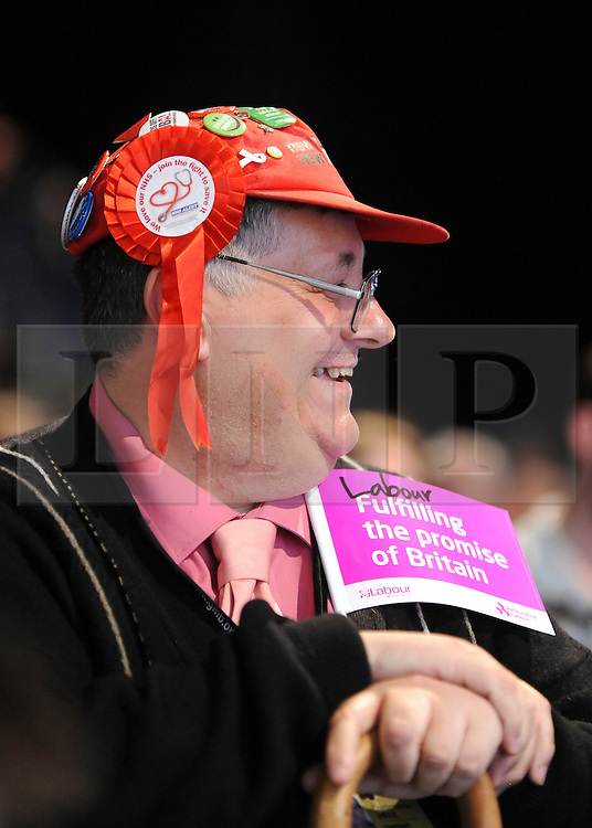 © Licensed to London News Pictures. 29/09/2011. LONDON, UK. A delegate. The Labour Party Conference in Liverpool today (2829/09/11). Photo credit:  Stephen Simpson/LNP