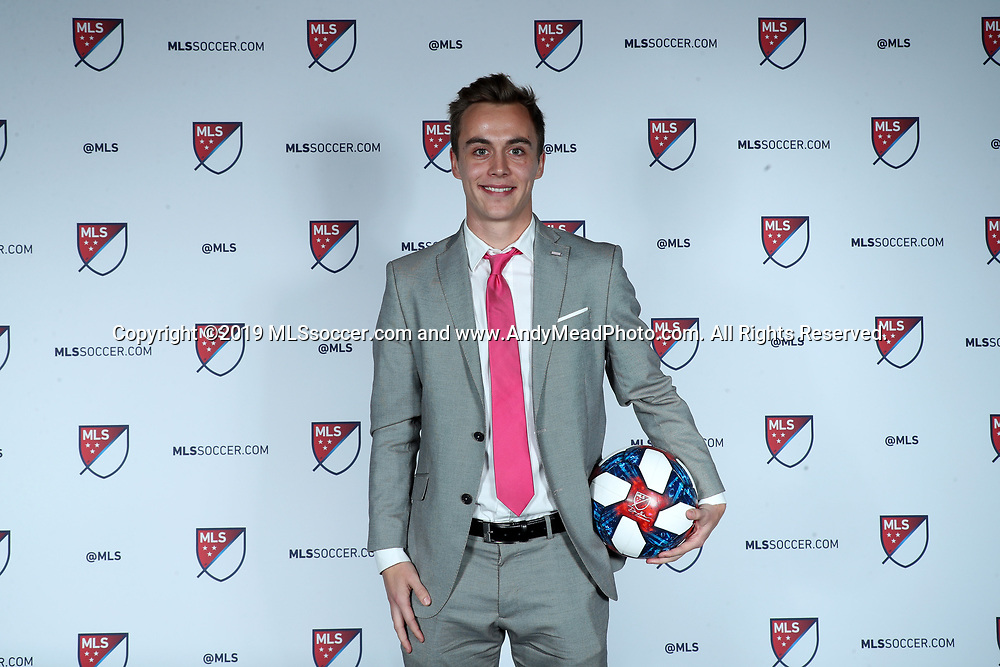 CHICAGO, IL - JANUARY 11: Janos Loebe was taken with the 22nd overall pick by New York Red Bulls. The MLS SuperDraft 2019 presented by adidas was held on January 11, 2019 at McCormick Place in Chicago, IL.