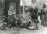 1916 Actors filming Intolerance at Fine Arts Studios