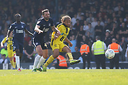 Burton Albion midfielder Marcus Harness (16) scores a goal 2-3 during the EFL Sky Bet League 1 match between Southend United and Burton Albion at Roots Hall, Southend, England on 22 April 2019.
