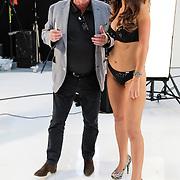 NLD/Amsterdam/20120405 - Fashionshoot Jamie Faber voor Sapph kerst 2012, samen met eigenaar Rob Heilbron