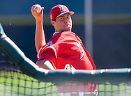 Tyler Skaggs throws to the plate during workouts at the Angels' Spring Training facility in Tempe, AZ on Tuesday, February 21, 2017. (Photo by Kevin Sullivan, Orange County Register/SCNG)