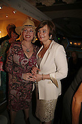Faith Brown and Cherie Booth, Gala champagne reception and dinner in aid of CLIC Sargent.  Grosvenor House Art and Antiques Fair.  Grosvenor House. Park Lane. London. 14 June 2006. ONE TIME USE ONLY - DO NOT ARCHIVE  © Copyright Photograph by Dafydd Jones 66 Stockwell Park Rd. London SW9 0DA Tel 020 7733 0108 www.dafjones.com