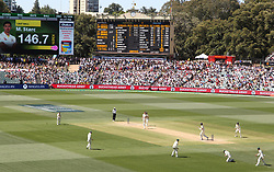 Australia's Mitchell Starc takes the wicket of Stuart Broad who was caught by Peter Handscomb during day five of the Ashes Test match at the Adelaide Oval, Adelaide.