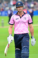 Nick Compton during the NatWest T20 Blast South Group match between Gloucestershire County Cricket Club and Middlesex County Cricket Club at the Bristol County Ground, Bristol, United Kingdom on 15 May 2015. Photo by Alan Franklin.