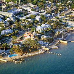 Aerial photograph of Key West, Florida