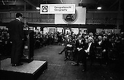 Young Scientists Exhibition.1969..01/01/1969.1st January 1969..The Aer Lingus Young Scientist Exhibition 1969 at the RDS..Brian Lenihan, T.D., Minister for Education addressing the crowd at the Exhibition..