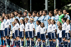 team Argentina during the Champions Trophy finale between the Netherlands and Argentina on the fields of BH&BC Breda on Juli 1, 2018 in Breda, the Netherlands.