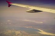 Flying over Romania before landing in Bucharest