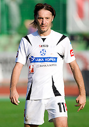 Miran Pavlin of Koper at the football match Interblock vs NK Luka Koper in 12th Round of Prva liga 2009 - 2010,  on October 03, 2009, in ZSD Ljubljana, Ljubljana, Slovenia. Luka Koper won 1:0.  (Photo by Vid Ponikvar / Sportida)