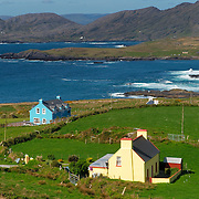 Houses by the ocean at Beara, Ireland