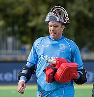 AMSTELVEEN - David Harte (k) (Kampong) voor  de hoofdklasse hockeywedstrijd mannen, Pinoke-Kampong (2-5) . COPYRIGHT KOEN SUYK
