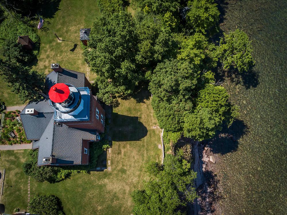 Big Bay Lighthouse and Lake Superior in Big Bay, Michigan.