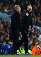 Football - 2019 / 2020 Premier League - Manchester City vs. Everton<br /> <br /> Everton manager Carlo Ancekotti and his assistant Duncan Ferguson, at The Etihad Stadium.<br /> <br /> COLORSPORT/ALAN MARTIN