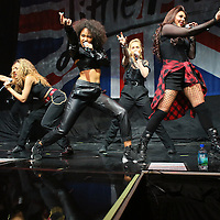 ST PAUL, MN - MARCH 18: (L-R) Jade Thirlwall, Leigh Anne Pinnock, Perrie Edwards and Jesy Nelson of the band Little Mix perform before Demi Lovato at the Xcel Energy Center on March 18, 2014 in St. Paul, Minnesota. (Photo by Adam Bettcher/Getty Images) *** Local Caption ***  Leigh Anne Pinnock; Perrie Edwards; Jesy Nelson; Jade Thirlwall