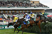 National Hunt Horse Racing - 2019 Randox Health Grand National Festival - Friday, Day Two (Ladies Day)<br /> <br /> P Townend on Cadmium in foreground as the field jumps the Water Jump <br /> the 16:05 Randox Health Topham Handicap Chase (Grade 3) (National Course)) at Aintree Racecourse.<br /> <br /> COLORSPORT/WINSTON BYNORTH