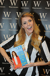 """© Licensed to London News Pictures. 24/01/2015<br /> Youtube personality,comedian and actress Grace Helbig at Waterstones book shop Bluewater today (24.01.2015) signing copies of her new book """"Grace's Guide"""".<br /> Hundreds if teenage girls have queued for hours to meet Grace and take a selfie with her.<br /> (Byline:Grant Falvey/LNP)"""