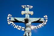 Jesus on the cross Charles Bridge, Prague, Czech Republic