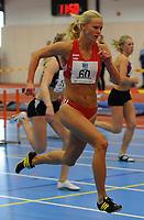 NM Friidrett Innendørs 12-13 februar 2011<br /> Ranheim Friidrettshall, Trondheim<br /> <br /> Norgesmester 60 m hekk, Hege Vold, Gjesdal IL<br /> <br /> Foto : Arve Johnsen, Digitalsport