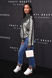Maya Jama arriving at the Fenty Beauty By Rihanna Party, Harvey Nichols, Knightsbridge, London. Photo credit should read: Doug Peters/EMPICS Entertainment