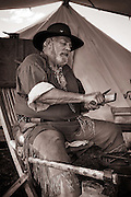 Mountain Man Rendezvous held in historic Jackson Hole, WY. Trappers and Traders assemble yearly on Memorial Day to trade their wares and swap stories.