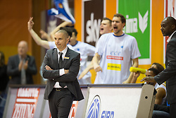 18.11.2015, Walfersamhalle, Kapfenberg, AUT, FIBA Europe Cup, ece Bulls Kapfenberg vs Le Havre, im Bild Head Coach, Michael Schrittwieser (Bulls Kapfenberg) nach dem Sieg gegen Le Havre // during the FIBA Europe Cup, between ece Bulls Kapfenberg and Le Havre at the Sportscenter Walfersam, Kapfenberg, Austria on 2015/11/18, EXPA Pictures © 2015, PhotoCredit: EXPA/ Dominik Angerer