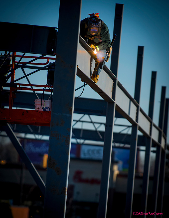 Construction continues on the site that formerly was Pier 1 Imports across from MacArthur Commons in the 2000 block of MacArthur Road. Four businesses will be housed in the new structure replacing Pier 1 along MacArthur Road in Whitehall Twp., Lehigh County, Pa.. Picture made November 26, 2019. Donna Fisher Photography, LLC
