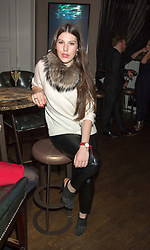 LILY LEWIS at the Tatler Little Black Book Party at Home House Member's Club, Portman Square, London supported by CARAT on 11th November 2015.