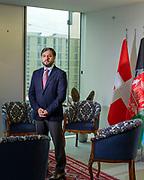 Genève, 08 octobre 2021. Ambassade et Mission permanante auprès de l'ONU. L'ambassadeur Nasir Andisha du dernier gouvernement afghan plus reconnu par le nouveau pouvoir taliban. © Olivier Vogelsang