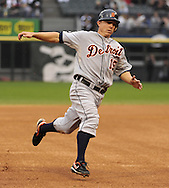 CHICAGO - SEPTEMBER 18:  Brandon Inge #15 of the Detroit Tigers runs the bases against the Chicago White Sox on September 18, 2010 at U.S. Cellular Field in Chicago, Illinois.  The Tigers defeated the White Sox 6-3.  (Photo by Ron Vesely)