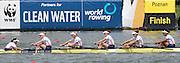 Poznan. Poland. Women's Eights. GBR W8+. Crew: Bow, Rosamund BRADBURY, Olivia CARNEGIE-BROWN, Lucinder GOODERHAM, Donna ETIEBET, Jessica EDDIE, Louisa REEVE,  Katie GREVES, and Zoe LEE, Cox. Zoe DE TOLEDO, Finals day at the FISA 2015 European Rowing Championships. Venue Lake Malta. 31.05.2015. [Mandatory Credit: Peter Spurrier/Intersport-images] .   Empacher.