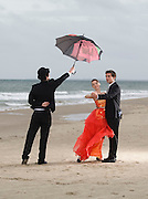 """17/10/2011. News. Free To use Image. Countdown to 59th Annual Wexford Festival Fringe this Week. Dancers April Dowdall (16), Gavin Byrne (16) and 'Butler' Patrick O'Conner (17) getting in some rehearsal time at Curracloe Beach, Wexford ahead of their performance in the Oyster Lane Theatre group production of Disney's 'Beauty and the Beast' which takes place during the 59th Wexford Festival Fringe; a 17 day celebration of music, song, dance and the arts which runs from October 20 to November 6, for details on the 250 events taking place see visitwexford.ie – photograph Patrick Browne<br /> <br /> The 59th Wexford Festival Fringe opens with a giant fireworks display in Wexford town to announce 17 days of fantastic Fringe Festival events which run in tandem with the famous Wexford Festival Opera which is currently celebrating its 60th year.<br /> <br /> Over 250 events will take place across the 17 days of the Fringe Festival with many taking place free of charge; organisers say the festival will attract approximately 18,000 visitors to the town.<br /> <br /> Commenting on the upcoming festival, Wexford Festival Fringe Coordinator, Orla Nolan said, """"This festival delivers the very best of Irish and international cultural experiences and it really offers something for all tastes and generations from an Art Exhibition with over 50 local and visiting artists showcasing their work, to Literary events to musical hits on stage and the many children's events.<br /> <br /> The festival takes place at a time of year which is typically seen as the close of the peak tourism season so it offers a huge economic boost to the town and environs.""""<br /> <br /> The opening ceremony fireworks display takes place at 7pm on Friday, October 21 on Wexford Quays and it's a not to be missed spectacular for all the family. The Fringe Festival runs until November 6 and some of the many highlights include, live gigs, theatrical performances, photography and art exhibitions, literary recitals, dan"""