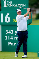 Golf - 2019 Senior Open Championship at Royal Lytham & St Annes - First Round <br /> <br /> Sandy Lyle (SCO) drives off the 16th tee.<br /> <br /> COLORSPORT/ALAN MARTIN