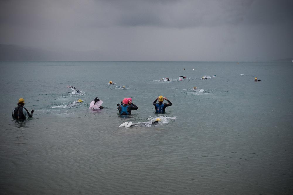 Mid winter swim at Freyberg Beach, Oriental Bay. ..Photo by Mark Tantrum | www.marktantrum.com