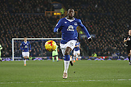Romelu Lukaku of Everton in action. Capital one cup semi final 1st leg match, Everton v Manchester city at Goodison Park in Liverpool on Wednesday 6th January 2016.<br /> pic by Chris Stading, Andrew Orchard sports photography.