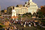 PERU, LIMA Plaza San Martin, San Martin statue