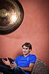 25.04.2012, Feusisberg, SUI, Roger Federer im Portrait, im Bild Tennisass Roger Federer (SUI) bei einem Termin mit Journalisten // Tennisplayer Roger Federer (SUI) talks with Journalists at Feusisberg, Switzerland on 2012/04/25. EXPA Pictures © 2012, PhotoCredit: EXPA/ Freshfocus/ Daniel Kellenberger     ***** ATTENTION - for AUT, SLO, CRO, SRB, BIH  only *****