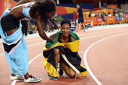 Jamaica's Anastasia Le-Roy after winning silver in the Women's 400m Final at the Carrara Stadium during day seven of the 2018 Commonwealth Games in the Gold Coast, Australia. PRESS ASSOCIATION Photo. Picture date: Wednesday April 11, 2018. See PA story COMMONWEALTH Athletics. Photo credit should read: Danny Lawson/PA Wire. RESTRICTIONS: Editorial use only. No commercial use. No video emulation.
