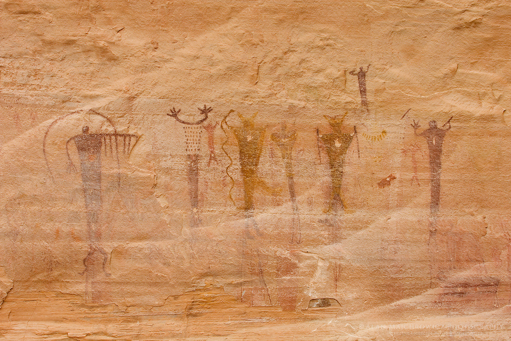 Buckhorn Wash barrier style pictographs, San Rafael Swell Utah