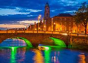 Father Mathew Bridge (Irish: Droichead an Athar Maitiú) is a road bridge spanning the River Liffey in Dublin, Ireland and joining Merchants Quay to Church Street and the north quays.