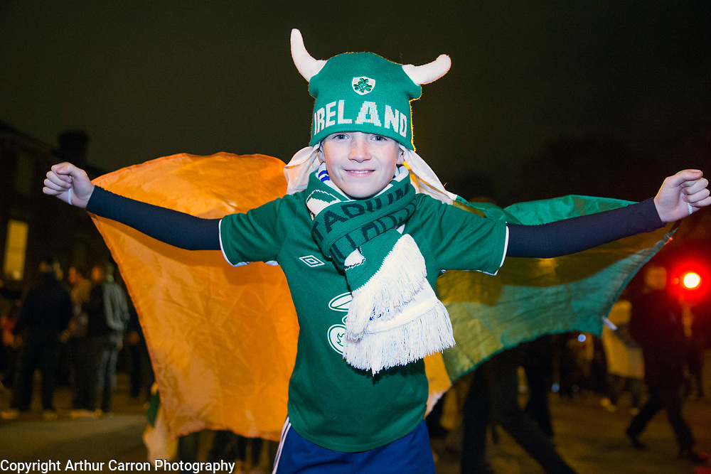 16/11/15 Bobby Byrne at the European Championship play-off between Ireland and Bosnia at the Aviva Stadium in Dublin. Picture:Arthur Carron