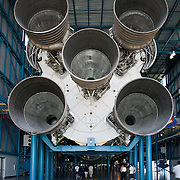 Apollo Saturn V rocket F-1 engines, these five engines could produce 7.6 million pounds of thrust, and were used on all the Apollo space flights to the moon.