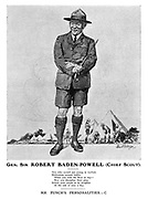 Gen. Sir Robert Baden-Powell (Chief Scout). Mr Punch's Personalities. - C.