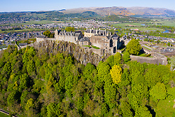 Aerial view of Stirling Castle, Stirling, Scotland, UK