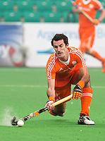 NEW DELHI -  Marcel Balkestein tijdens de kwart finale van  de finaleronde van de Hockey World League tussen de mannen van Nederland en Duitsland . ANP KOEN SUYK