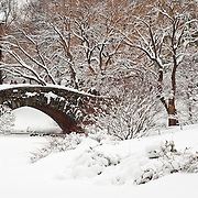 Gapstow Bridge in Central Park, NYC after a Snowstorm
