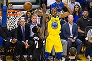 Golden State Warriors forward Andre Iguodala (9) passes the ball against the Milwaukee Bucks at Oracle Arena in Oakland, Calif., on March 29, 2018. (Stan Olszewski/Special to S.F. Examiner)