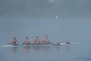Hamburg. GERMANY.   USA JW4-. Misty, Foggy,  atmospheric, conditions, Friday, Morning training at the 2014 FISA Junior World rowing. Championships.  07:53:58  Friday  08/08/2014  [Mandatory Credit; Peter Spurrier/Intersport-images] © Peter SPURRIER, Atmospheric, Rowing