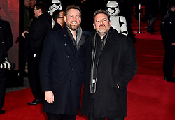 Guy Garvey (left) and Marcus Garvey attending the european premiere of Star Wars: The Last Jedi held at The Royal Albert Hall, London.