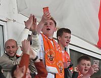 Fans<br /> <br /> Photographer Dave Howarth/CameraSport<br /> <br /> The EFL Sky Bet Championship - Blackpool v Preston North End - Saturday 23rd October 2021 - Bloomfield Road - Blackpool<br /> <br /> World Copyright © 2020 CameraSport. All rights reserved. 43 Linden Ave. Countesthorpe. Leicester. England. LE8 5PG - Tel: +44 (0) 116 277 4147 - admin@camerasport.com - www.camerasport.com